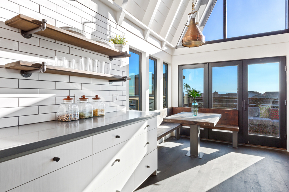 An industrial coastal kitchen.