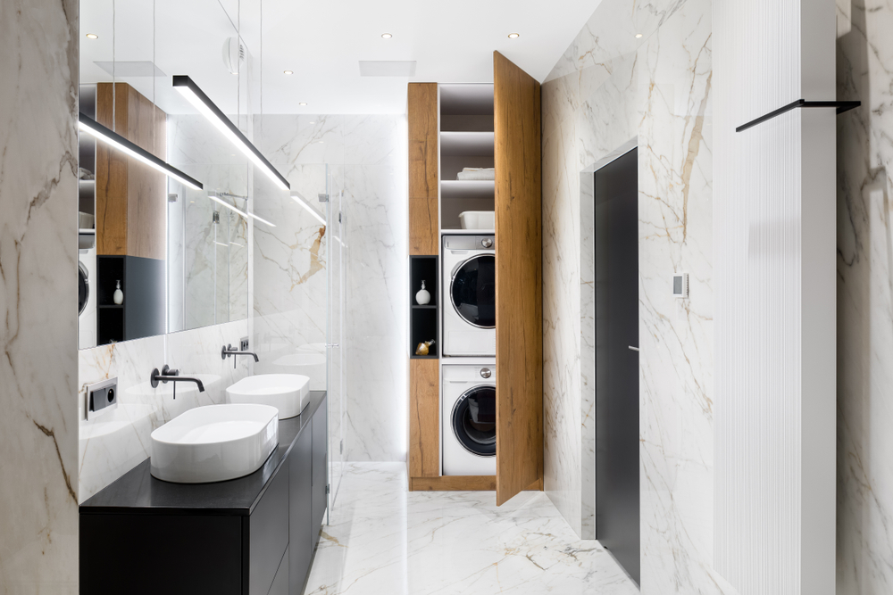 Laundry-Bathroom Combo — The Ultimate Space Saver!